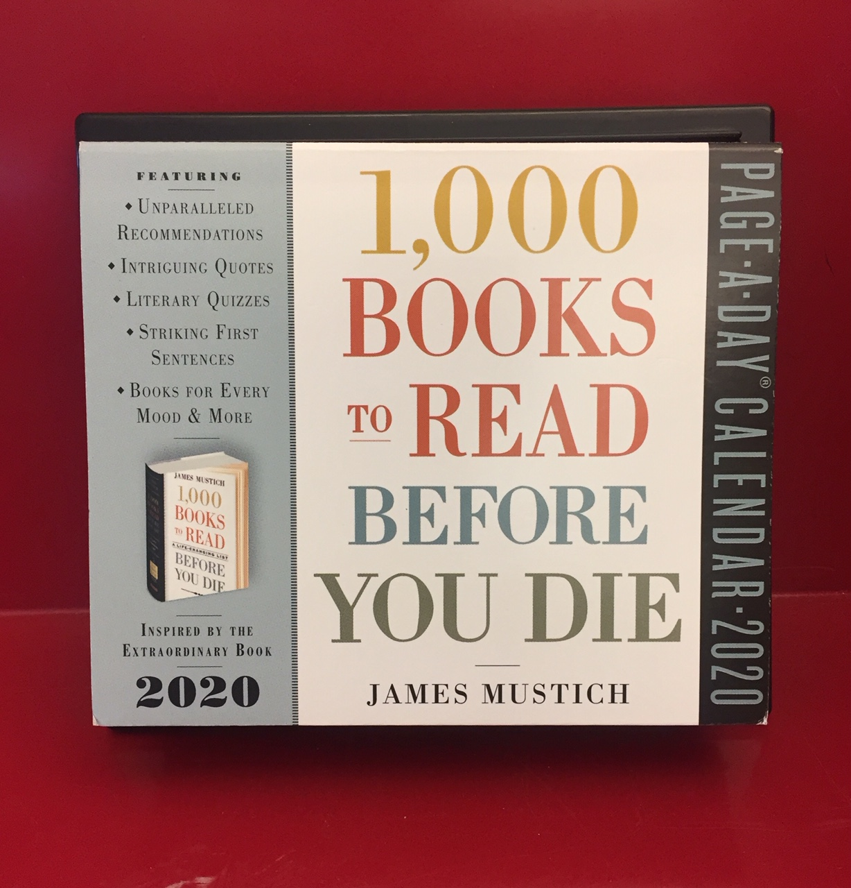 1,000 Books to Read Before You Die page-a-day