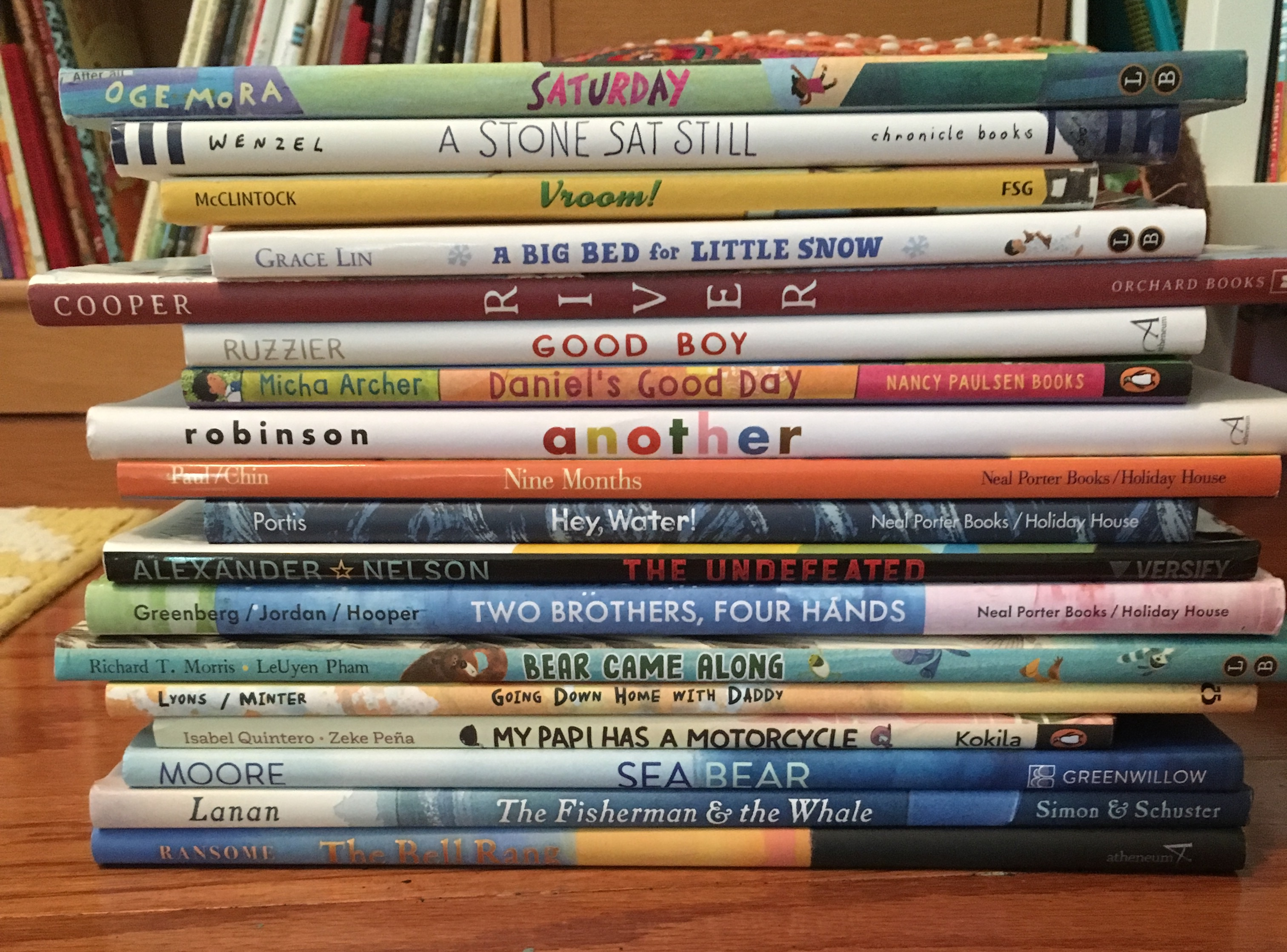 A stack of 2019 picture books